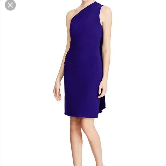 1dd3c915d792 Lauren Ralph Lauren One-Shoulder Jersey Dress